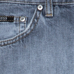 Boss By Hugo Boss Grey Cotton Medium Wash Denim Scout1 Jeans 4XL