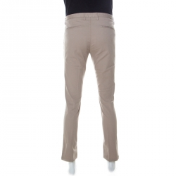 Boss by Hugo Boss Beige Stretch Cotton Slim Fit Chinos M