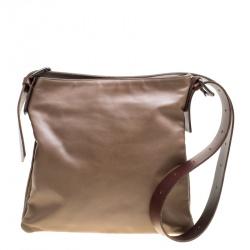 Bottega Veneta Brown Leather Messenger Bag cf5b2cd53f