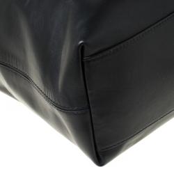 Bottega Veneta Black Intrecciato Leather Large Oculus Duffle Bag