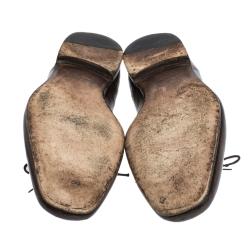 حذاء أوكسفوردز بوتيغا فينيتا بروغ جلد بني مقاس 42