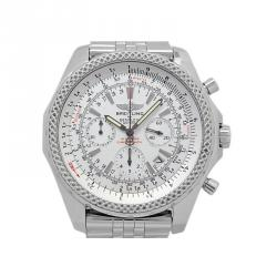 80bef4cda Breitling Silver Stainless Steel Bentley Chronograph Men's Wristwatch 48MM