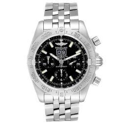 Breitling Black Stainless Steel Chronomat Blackbird A44359 Men's Wristwatch 44MM