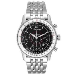 Breitling Black Stainless Steel Navitimer Montbrilliant A41330 Men's Wristwatch 38 MM