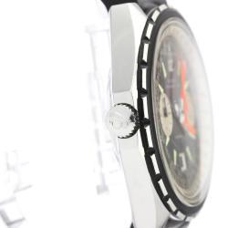Breitling Black Stainless Steel Navitimer Aviation 1806 Vintage Men's Wristwatch 48 MM