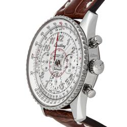 Breitling White Stainless Steel Montbrillant 01 Limited Edition AB013112/G735 Men's Wristwatch 40 MM