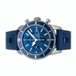 Breitling Blue Stainless Steel Superocean Heritage Chronograph A1332016/C758 Men's Wristwatch 46 MM