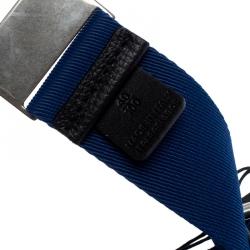 Burberry Blue Canvas Zach Webbing Belt 100CM