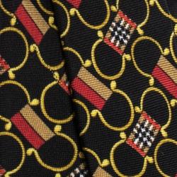 Burberry Black Archive Scarf Print Silk Slim Tie