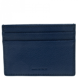 Burberry Blue Leather Card Case