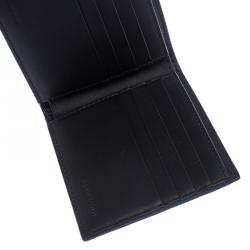 Burberry Blue Graffiti Print Leather Bifold Wallet