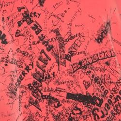 Burberry Bright Neon Clement Scribbled Logo Print Rennie Sweatshirt M