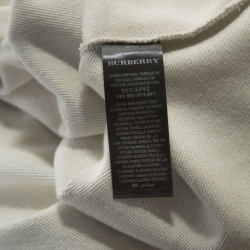 Burberry Grey Knit Embroidered Detail Crew Neck Sweatshirt L