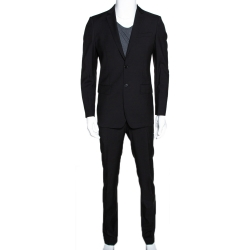 Burberry Black Wool Contemporary Fit Milbury Suit S