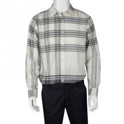 9b692e6d286d18 Burberry Brit Multicolor Checked Cotton Button Front Long Sleeve Shirt L