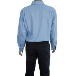 Burberry Light Blue Men's Shirt EU42