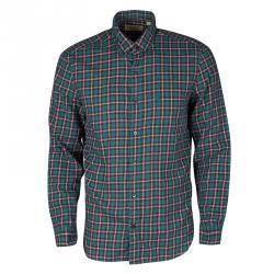 2a9e70ea6e8f66 Burberry London Multicolor Checked Cotton Long Sleeve Button Down Shirt M