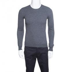 c9a8d1f5910 Burberry Brit Grey Merino Wool Novacheck Shoulder Detail Sweater M