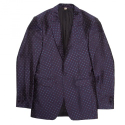 67efe06ad2812 Burberry London Purple Silk Brocade Tailored Blazer XS