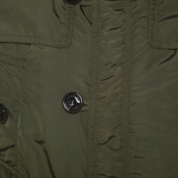 Burberry Military Green Quilted Double Layered Jacket M