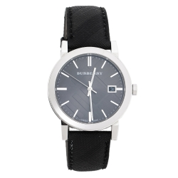 Burberry Grey Stainless Steel BU9030 Men's Wristwatch 38 mm