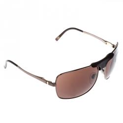 Bvlgari Brown 5019-Q Aviator Sunglasses