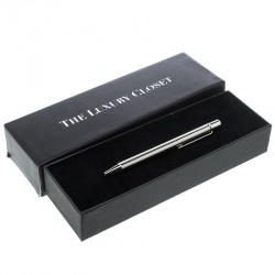 Cartier Textured Silver Tone Ballpoint Pen