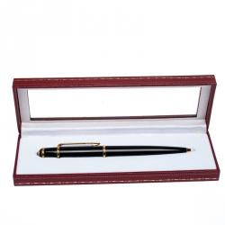 Cartier Diabolo de Cartier Black Lacquer Gold Tone Ballpoint Pen