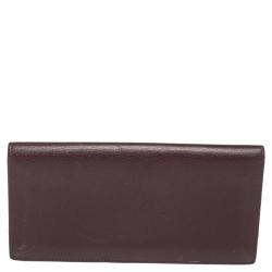 Cartier Burgundy Leather Must de Cartier Continental Wallet
