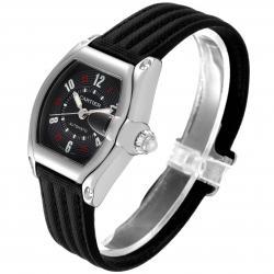 Cartier Black Stainless Steel Roadster Las Vegas Roulette W62002V3 Men's Wristwatch 38 x 43 MM