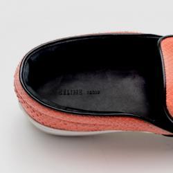 Celine Orange Python Skate Shoes Size 38