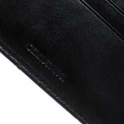 Cerruti 1881 Black Ostrich Embossed Leather Mayfair Bifold Wallet
