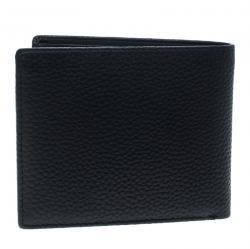Cerruti 1881 Black Leather Derby Bifold Wallet