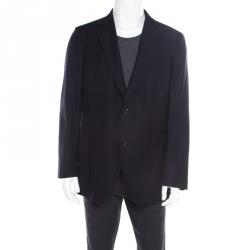 2df2c929925d8 CH Carolina Herrera Navy Blue Wool and Cashmere Tailored Blazer 2XL