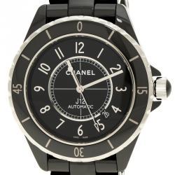 Chanel Black Ceramic J12 Men's Wristwatch 41 mm
