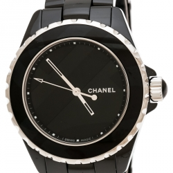 Chanel Black Ceramic J12 Untitled Limited Edition H5581 Women's Wristwatch 38 mm