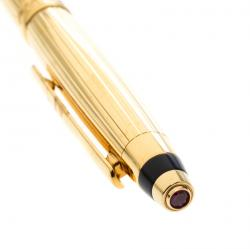 Chopard Gold Plated Metal Black Resin San Marco Ballpoint pen