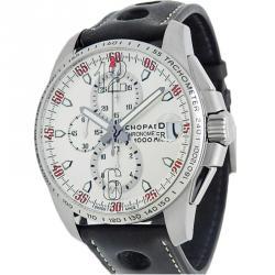1c2256d0c ساعة يد رجالية شوبارد ميلي ميليا كرونوغراف ستانلس ستيل فضية 45 مم