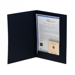 L.U. Chopard Silver White 18K Rose Gold 1963 Chronograph 16164-5001 Limited Edition 06/50 Men's Wristwatch 42 mm