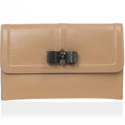 Christian Louboutin Nude Sweet Charity Pouchette Wallet Clutch