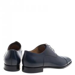 Christian Louboutin Oxford Blue Leather Greggo  Lace Up Oxfords Size 43