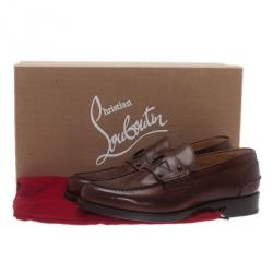 Christian Louboutin Brown Leather De Sailly Loafers Size 41