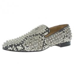 Christian Louboutin Python Rollerboy Spikes Loafers Size 45