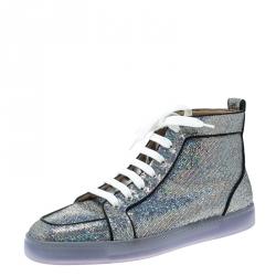 de66717b311e8 Christian Louboutin Glitter Disco Ball Rantus Orlato High Top Sneakers Size  42.5