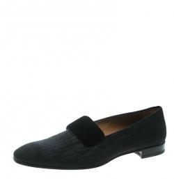 06a9136d1609 Christian Louboutin Black Fabric Vittorio Venetian Loafers Size 43