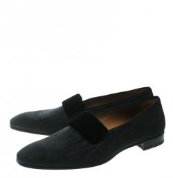 Christian Louboutin Black Fabric Vittorio Venetian Loafers Size 43