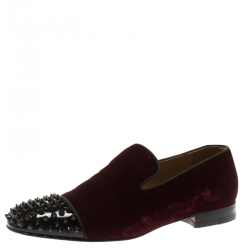 factory authentic 70523 2cf95 Christian Louboutin Burgundy Velvet And Patent Leather Spook...