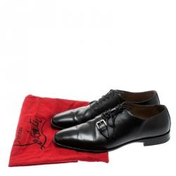 Christian Louboutin Black Leather Capri Oxfords Size 41