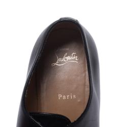 Christian Louboutin Black Leather Capri Oxfords Size 43