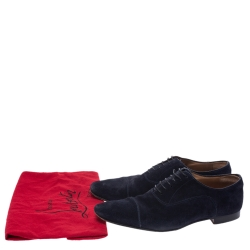 Christian Louboutin Oxford Blue Suede Greggo  Lace Up Oxfords Size 43